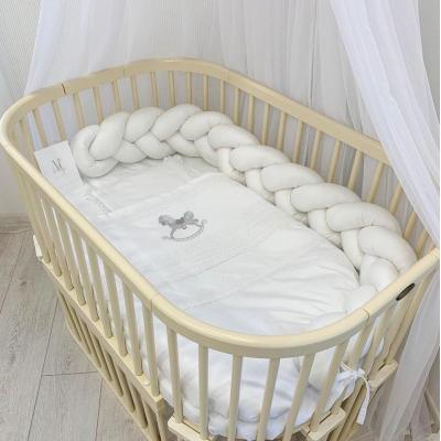 Бортик-косичка с постельным бельем ComfortBaby из 100% сатина Eco-collection