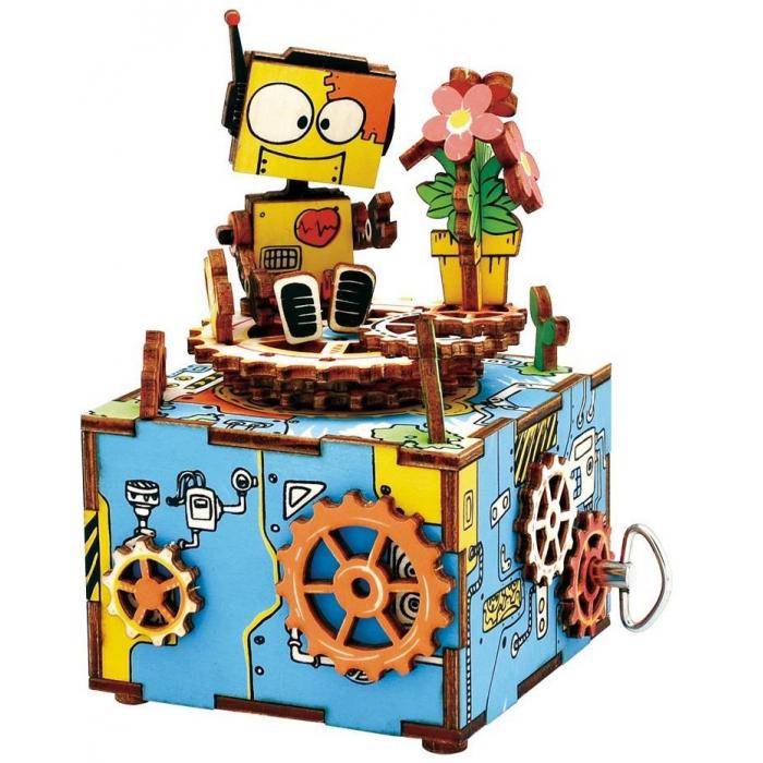 """Деревянный 3D конструктор - музыкальная шкатулка Robotime """"Machinarium"""" - AM305"""