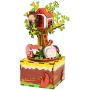 """Деревянный 3D конструктор - музыкальная шкатулка Robotime """"Tree House"""" - AM408"""