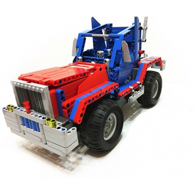 Радиоуправляемый конструктор грузовик / джип Cada Technics 2 в 1 - 2.4G - C51002W