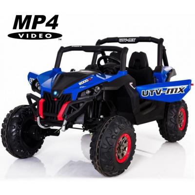 Двухместный полноприводный электромобиль Blue UTV-MX Buggy 12V MP4 - XMX603-BLUE-MP4
