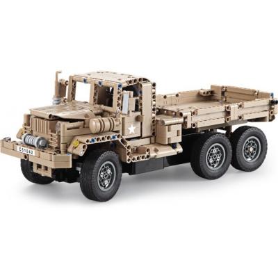 Конструктор радиоуправляемый CADA deTech военный грузовик (38 см, 545 деталей) - C51042W