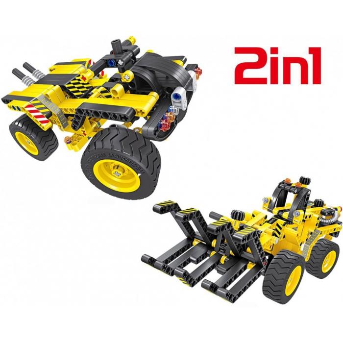 Конструктор 2 в 1 (трактор и багги) QiHui Technics 342 детали - QH6804