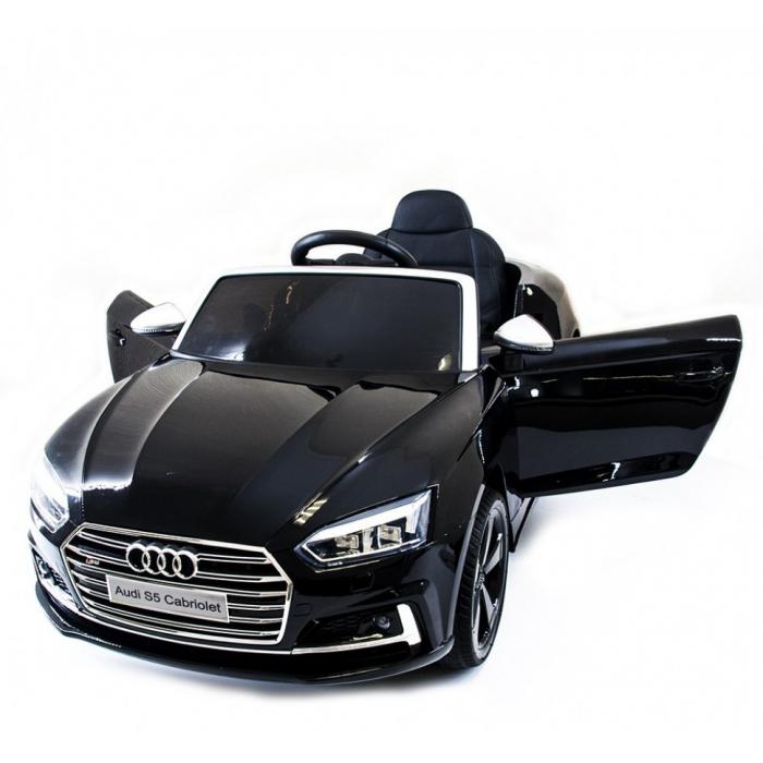Детский электромобиль Audi S5 Cabriolet LUXURY 2.4G - Black - HL258-LUX-B