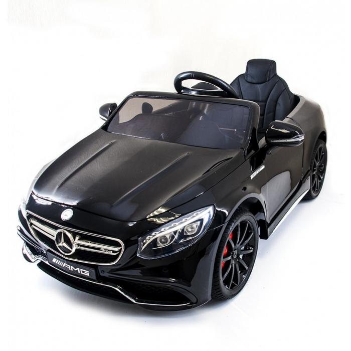 Детский электромобиль Mercedes Benz S63 LUXURY 2.4G - Black - HL169-LUX-B