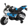 Детский электромотоцикл BMW S1000PR Blue 12V - JT528-BLUE