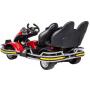 Детский спортивный 3-местный электрокарт Dongma Go Kart Red 12V - DMD-288