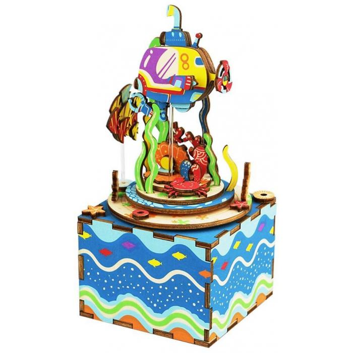 """Деревянный 3D конструктор - музыкальная шкатулка Robotime """"Under The Sea"""" - AM406"""
