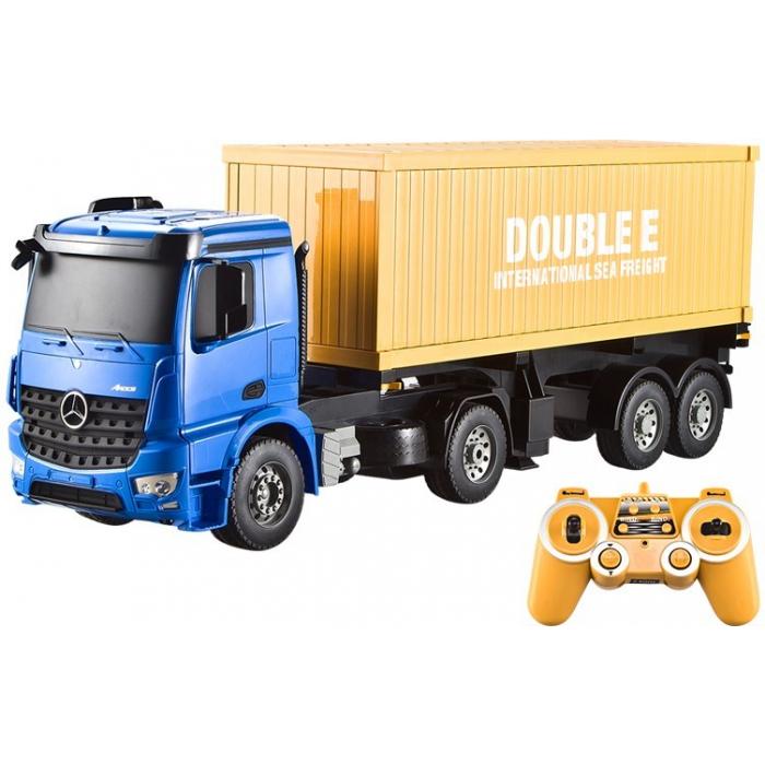 Радиоуправляемый контейнеровоз Double E Mercedes-Benz Arocs 1:20 2.4G - E564-003