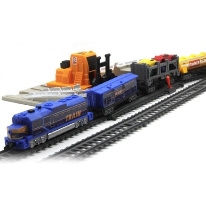 Железная дорога со станцией загрузки автомобилей, длина 762 см - BSQ-2081