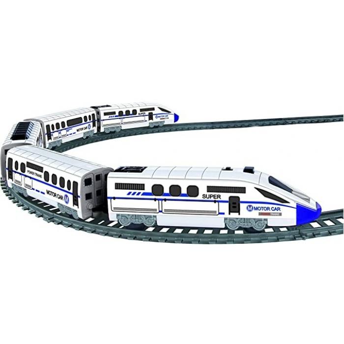 Железная дорога, скоростной поезд, дорожные знаки, длина полотна 457 см - BSQ-2183