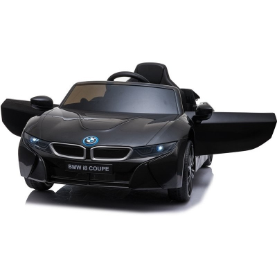 Детский электромобиль BMW i8 Coupe 12V - JE1001-BLACK-PAINT