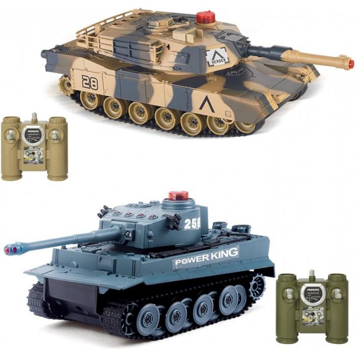 Радиоуправляемый танковый бой VS Tank Huan Qi Abrams vs Tiger 1:32 2.4G - HQ5001
