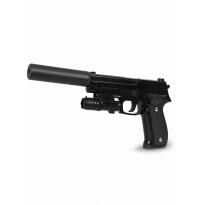 Пневматический пистолет SIG 226 с глушителем и ЛЦУ металл - G.26A