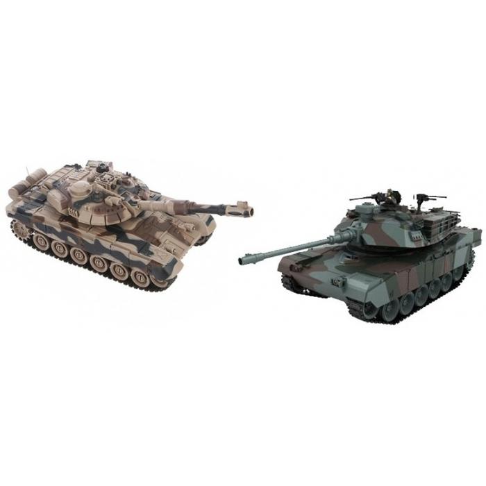 Радиоуправляемый танковый бой (советский T90 + Abrams США) 2.4GHz - 99830