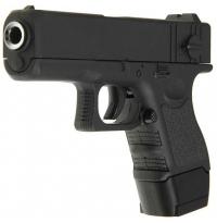 Пистолет металлический Glock 17 mini пневматика, 14 см - G.16