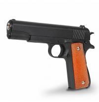 Пистолет металлический Colt 1911 с кобурой пневматика, 21,5 см - G.13