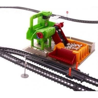Железная дорога со станцией загрузки щебня, длина полотна 1067 см - BSQ-2085
