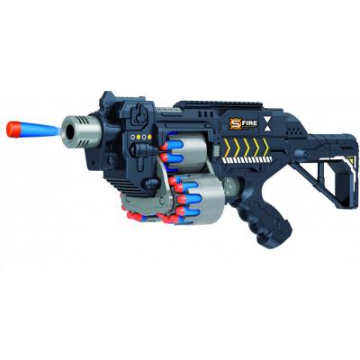 Автомат черный на батарейках с мягкими пулями - G2B