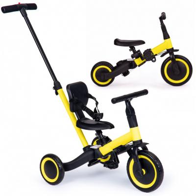 Детский беговел-велосипед 4 в 1 с родительской ручкой, желтый - TR007-YELLOW