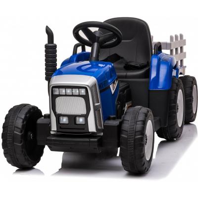 Детский электромобиль XMX трактор с прицепом (синий, EVA, пульт, 12V) - XMX611-BLUE