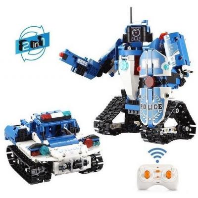 Конструктор радиоуправляемый CADA 2 в 1 полицейский робот-трансформер, 556 элементов - C51049W