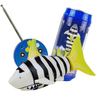 Радиоуправляемая рыбка-акула (желтая, водонепроницаемая в банке) - 3310B-3