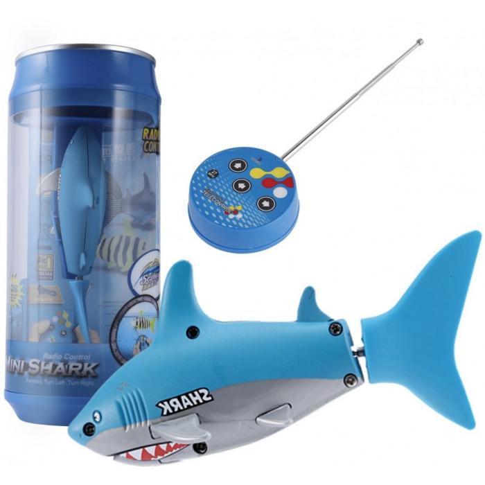 Радиоуправляемая рыбка-акула (синяя, водонепроницаемая в банке) - 3310B-2
