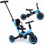 Детский беговел-велосипед 4 в 1 с родительской ручкой, синий - TR007-BLUE