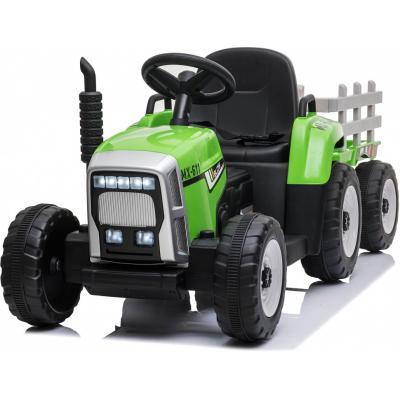 Детский электромобиль XMX трактор с прицепом (зеленый, EVA, пульт, 12V) - XMX611-GREEN