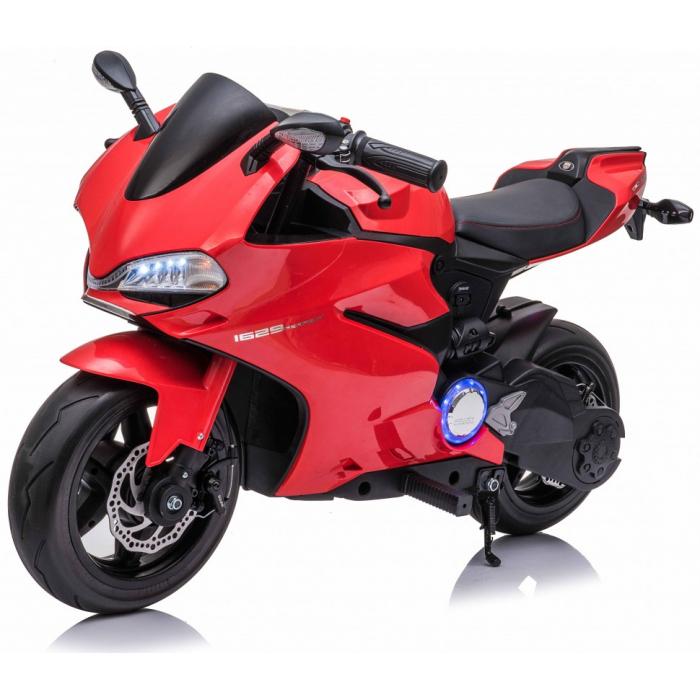 Детский электромобиль мотоцикл Ducati Red (дисковый тормоз, 16 км/ч, 24V) - SX1629