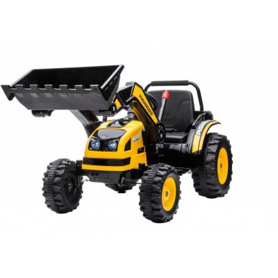 Детский электромобиль трактор с ковшом и пультом управления (желтый, 2WD, EVA) - HL389-LUX-YELLOW
