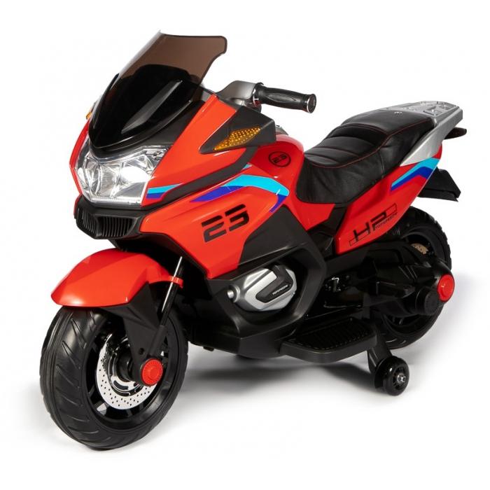 Детский электромотоцикл XMX (красный, EVA, с ручкой газа, 12V) - XMX609-RED