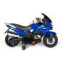Детский электромотоцикл XMX (синий, EVA, с ручкой газа, 12V) - XMX609-BLUE