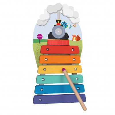 Игрушка на стену Vertiplay Деревяный ксилофон Музыкальное путешествие на поезде
