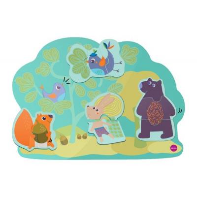 Игрушка на стену Vertiplay Магнитные паззлы Кролик Хоппи и его друзья