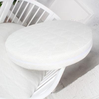 Круглый матрас для кроватки ComfortBaby трехслойный двусторонний