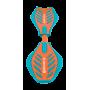 ВАРИАНТЫ ЦВЕТА: бирюзовый/оранжевый