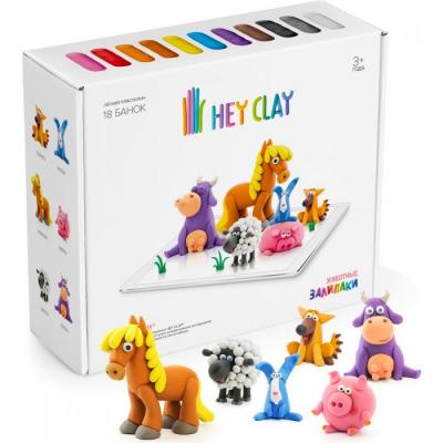 Воздушный пластилин для лепки Hey Clay Залипаки - Животные