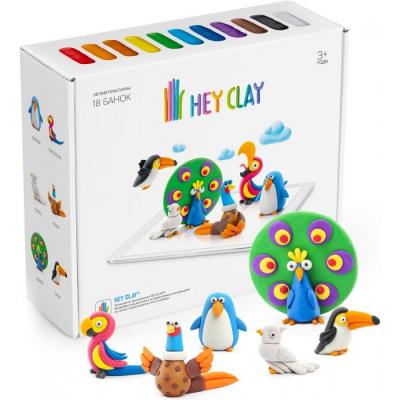 Воздушный пластилин для лепки Hey Clay Залипаки - Птицы