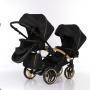 Коляска детская для двойни 2 в 1 Junama Mirror Satin Duo Slim