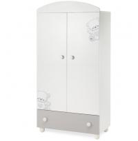 Шкаф Italbaby Jolie белый/серый