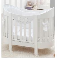 Овальная кровать Italbaby Happy Family Oval белая