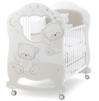 Детская кровать Italbaby Jolie Oblo белый/шоколад
