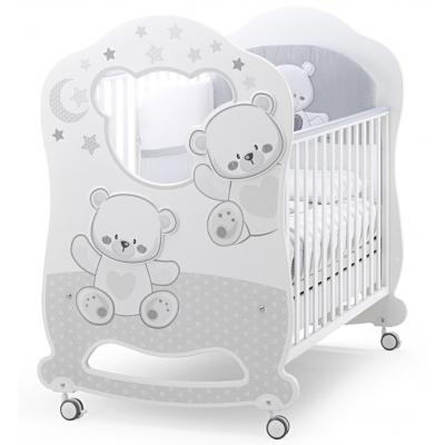 Детская кровать Italbaby Jolie Oblo белый/серый