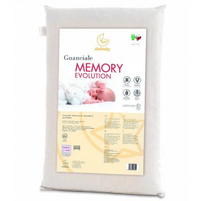 Подушка в кроватку Italbaby Memory Evolution белая