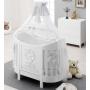 Овальная кровать Italbaby Love Oval белая