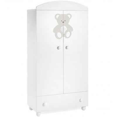 Шкаф Italbaby Peluche белый с кремовым декором