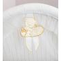 Кроватка-люлька Italbaby Love с капюшоном крем