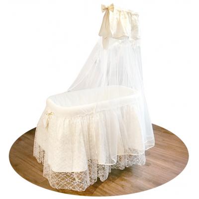 Кроватка-люлька Italbaby Romantic с балдахином крем